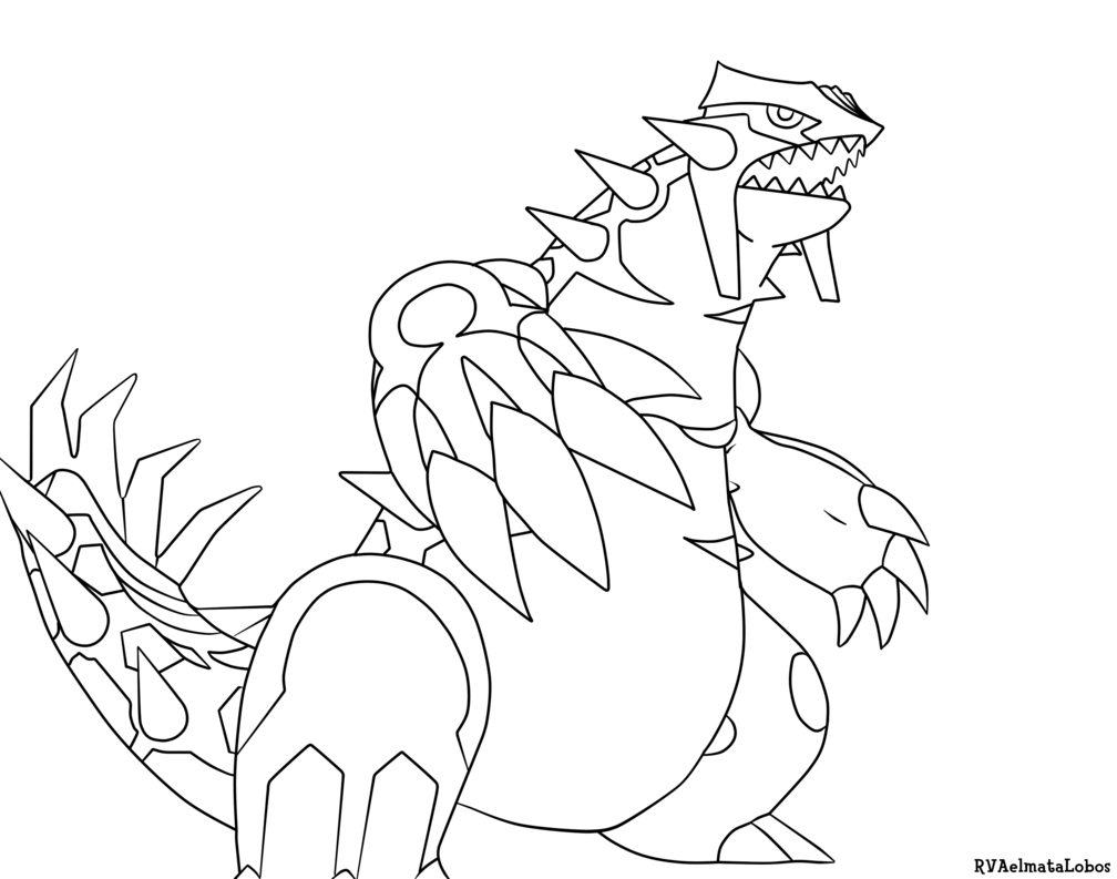 Bastion drawing coloring page. Primal groudon pokemon pages