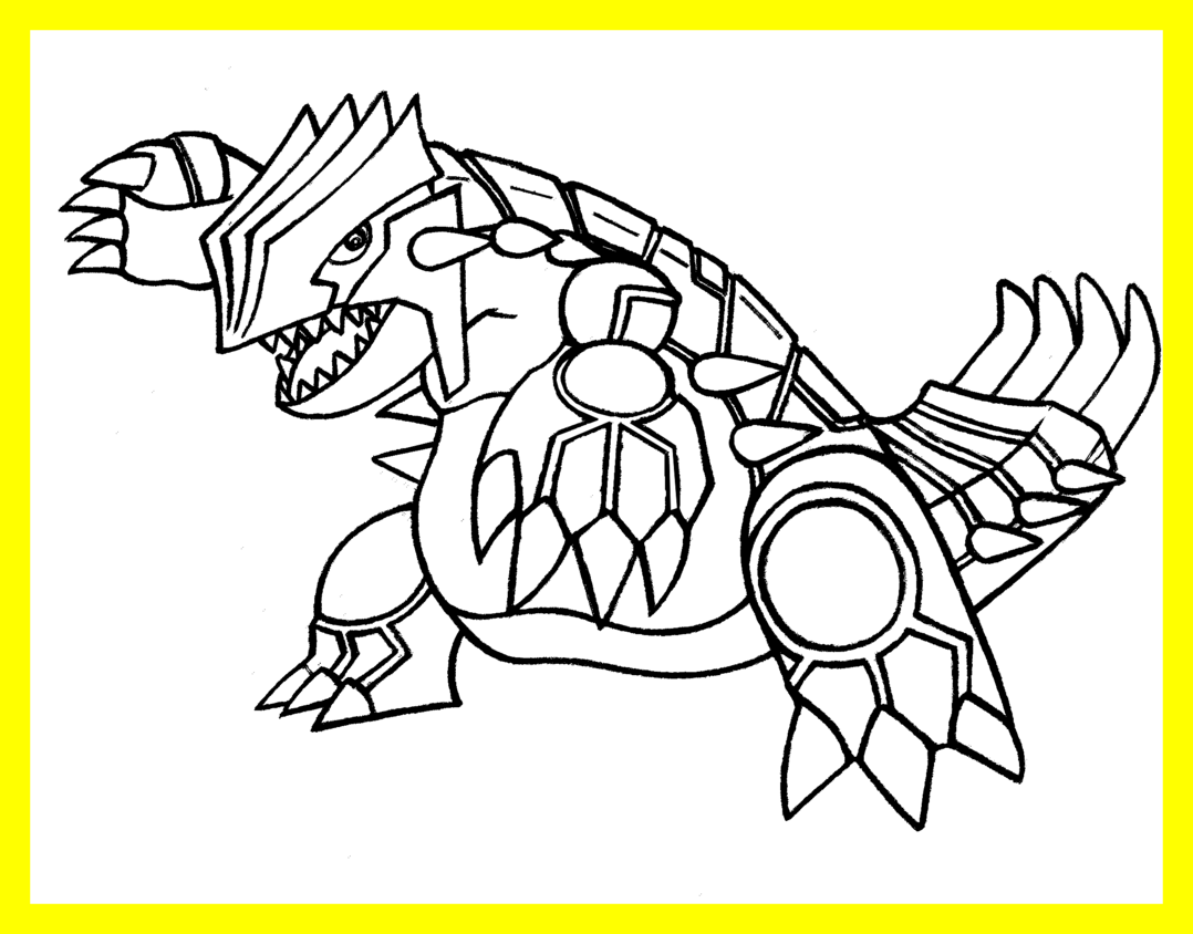 Coloring pages pokemon sleekads. Groudon drawing svg