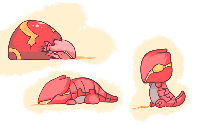 Groudon transparent baby. Oras concept by chibi