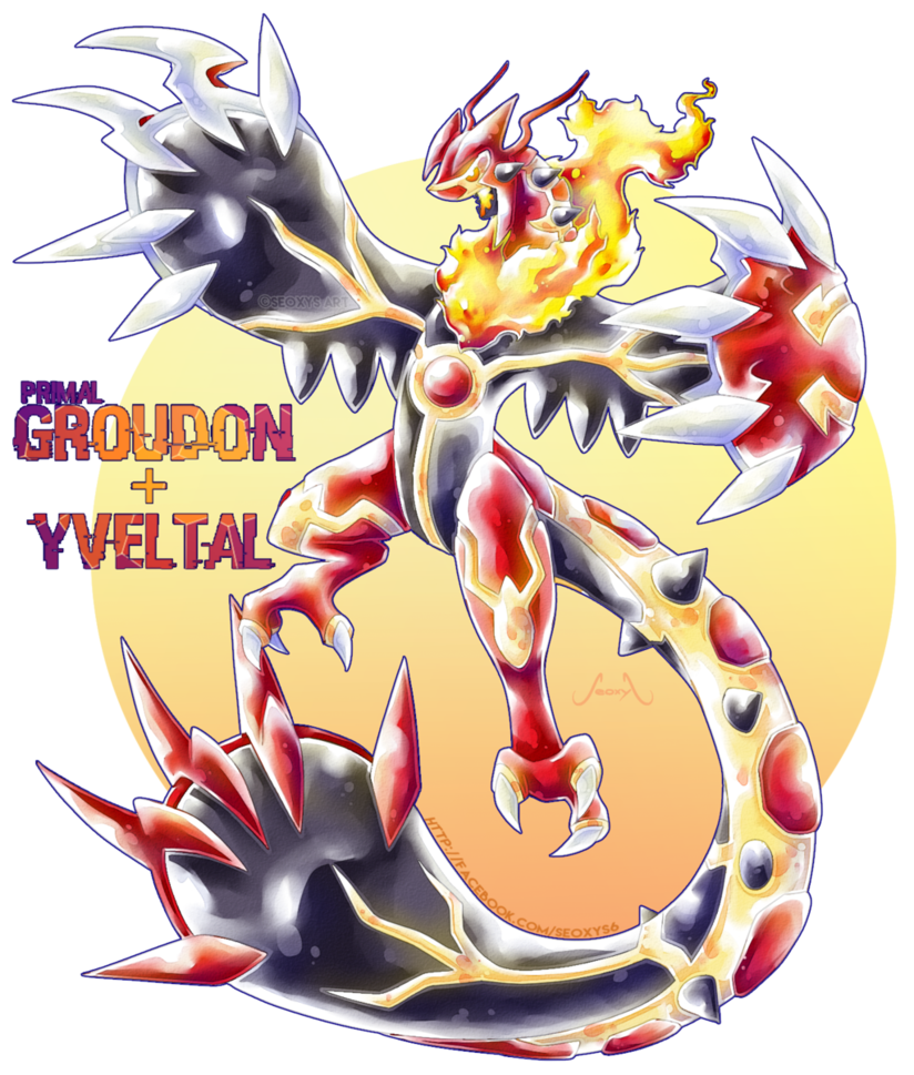 Groudon drawing cool. Primal x yveltal by