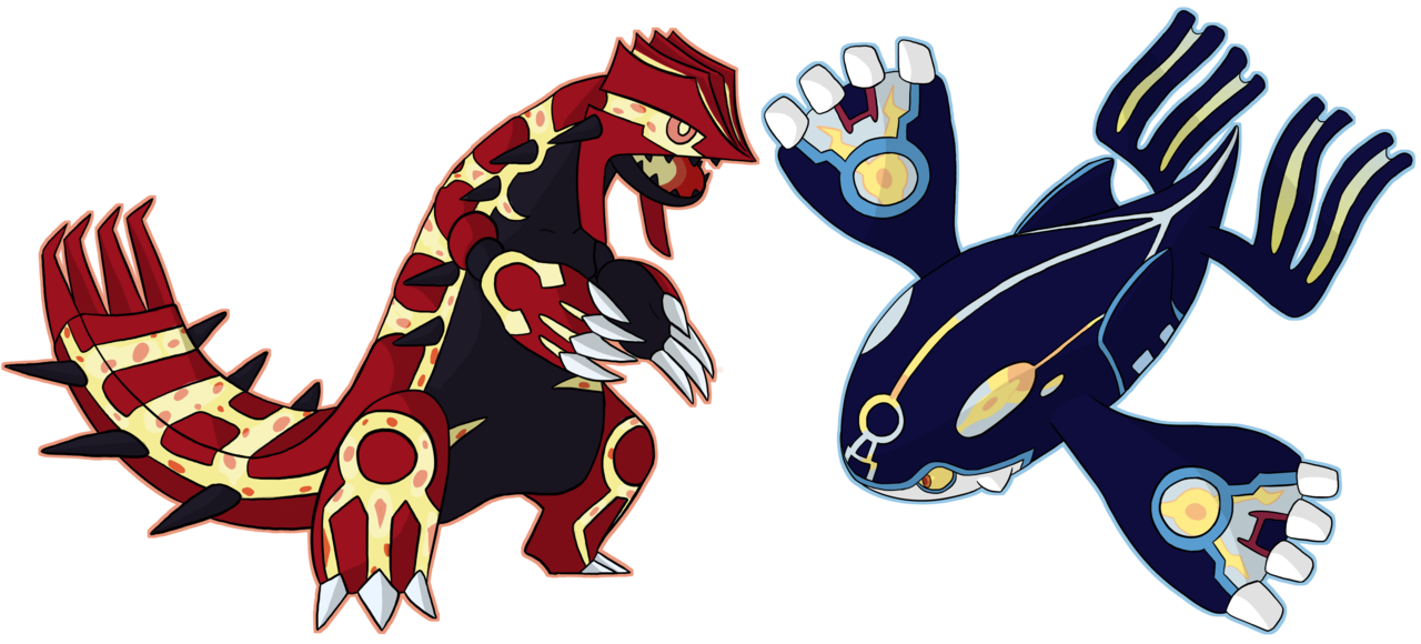 Groudon drawing kyogre. Primal and by yellowy