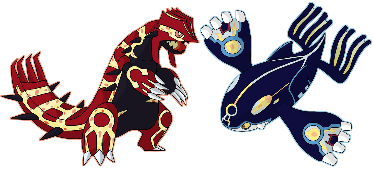 Groudon drawing scary. Primal kyogre and by