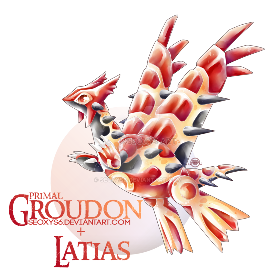 Groudon drawing real life. Primal x latias by