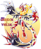 Groudon drawing transparent. Primal x yveltal by