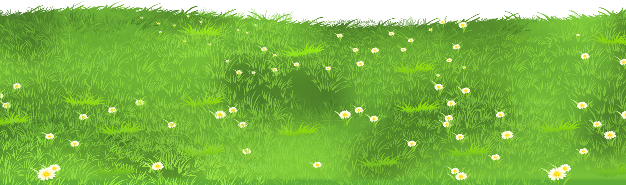 Ground clipart clear background grass. Download with daisies png