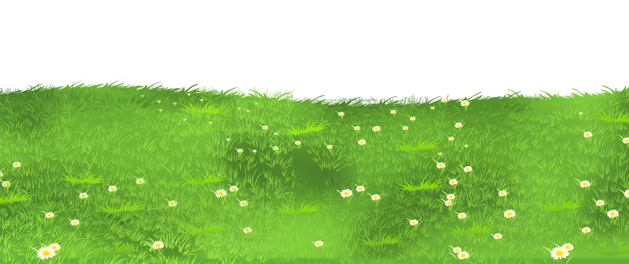 Ground clipart clear background grass. With daisies png gallery
