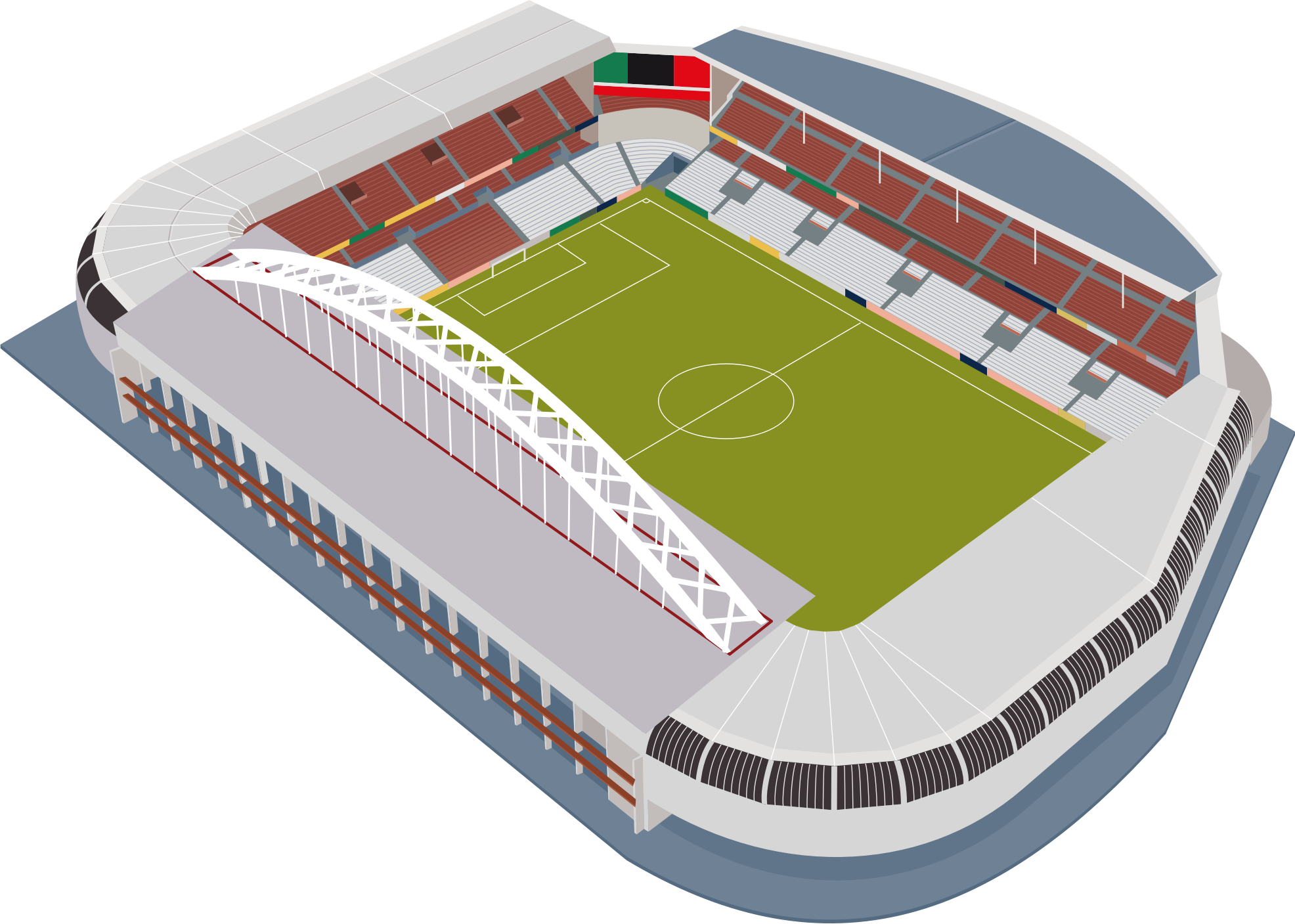 Football ground clipground soccer. Stadium clipart medium png freeuse download