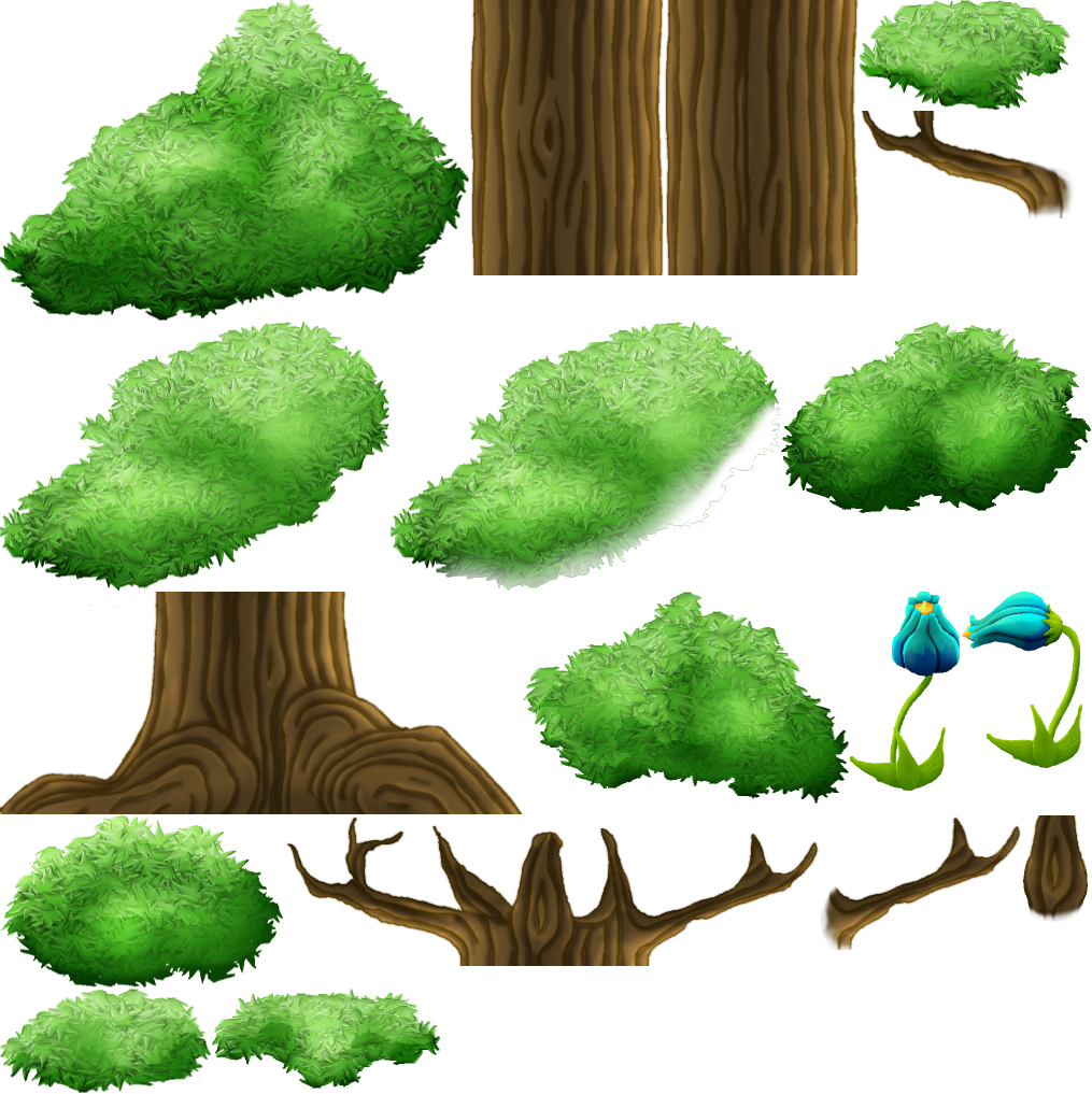 Ground clipart sprite. Forest themed sprites opengameart