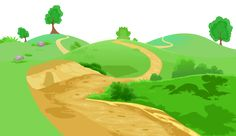 Valley ground transparent png. Pathway clipart banner library stock