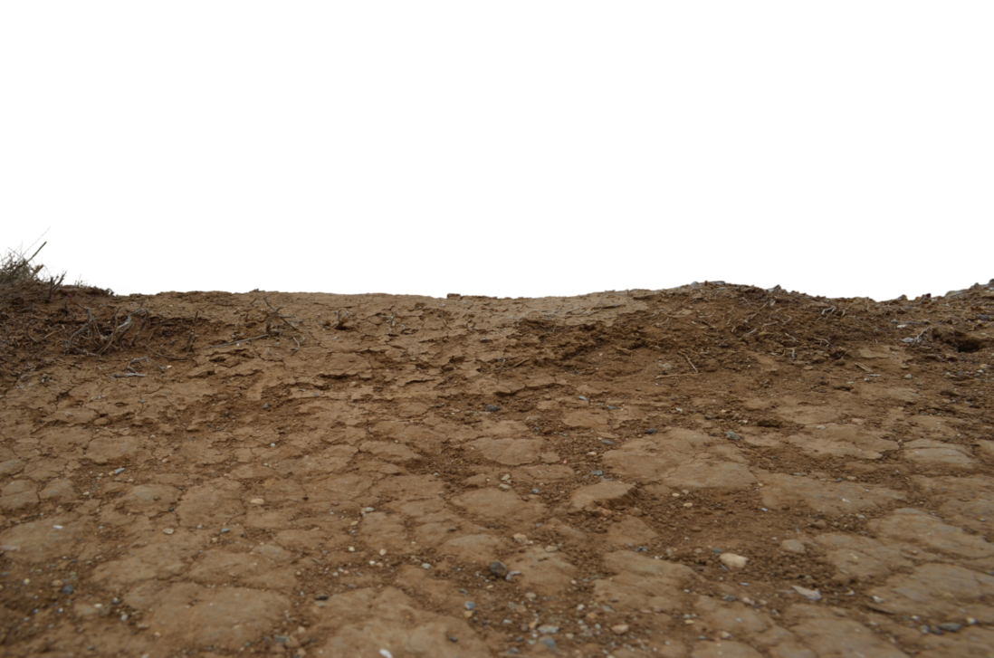 Ground crack png. Earth hill levelstock photo