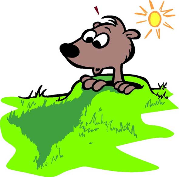 Groundhog clipart light shadow. Happy s day