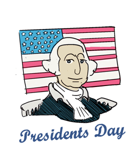 Closed clipart presidents day. Us calendar history tweets