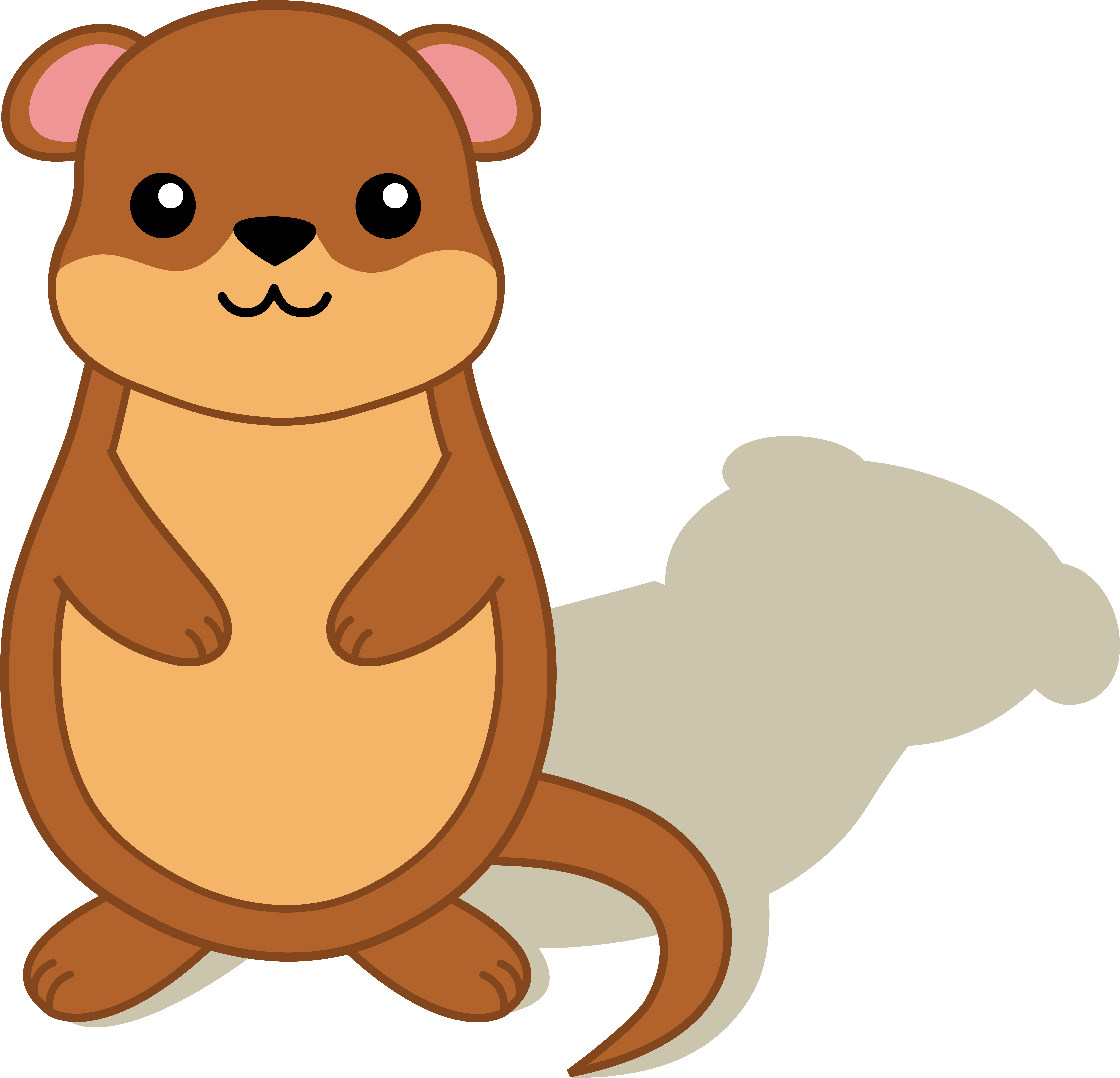 Groundhog with free clip. Shadow clipart clipart freeuse stock