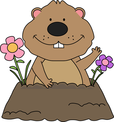 groundhog clipart light shadow