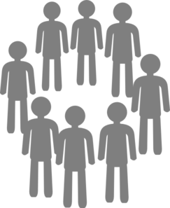 Group clip art free. Population clipart graphic transparent stock