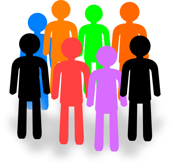 Group clipart. Large of people