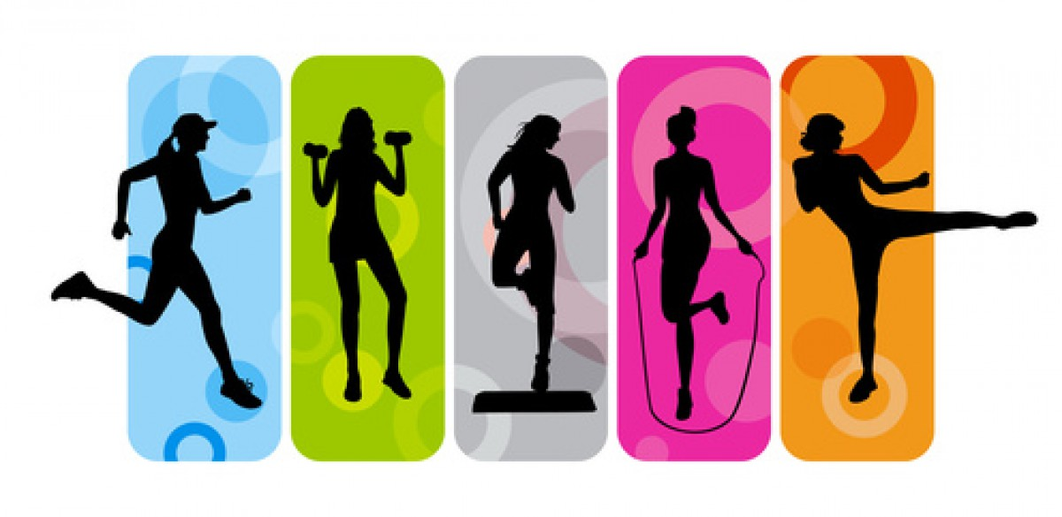 Gym clipart special class. The group fitness enthusiast