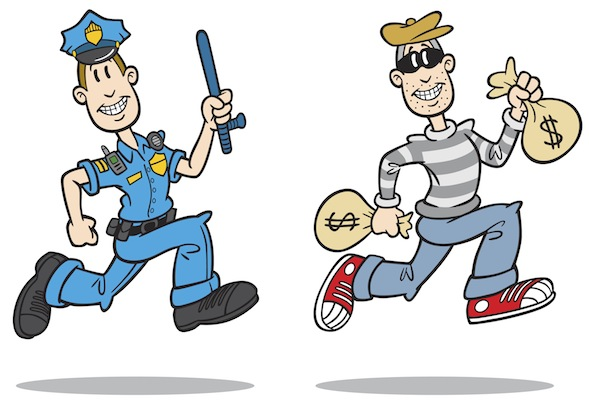Group clipart robber. Cops and robbers