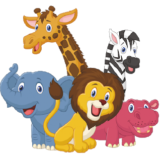 Group clipart transparent background. Cartoon animal image png