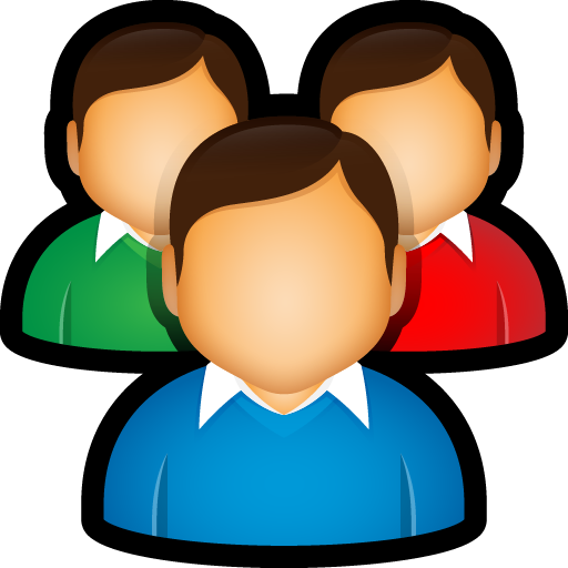 Group clipart user group. Customers people friends users