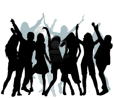 Group dancing silhouette png. Understanding musicality in salsa
