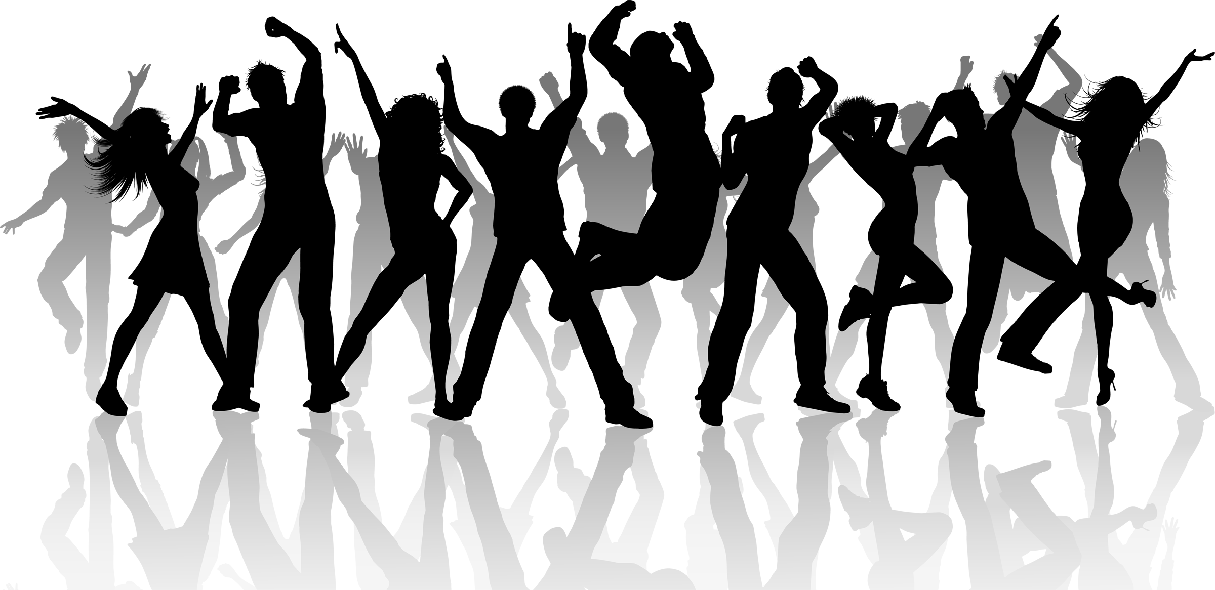 Group dance silhouette png. Person dancing hd transparent