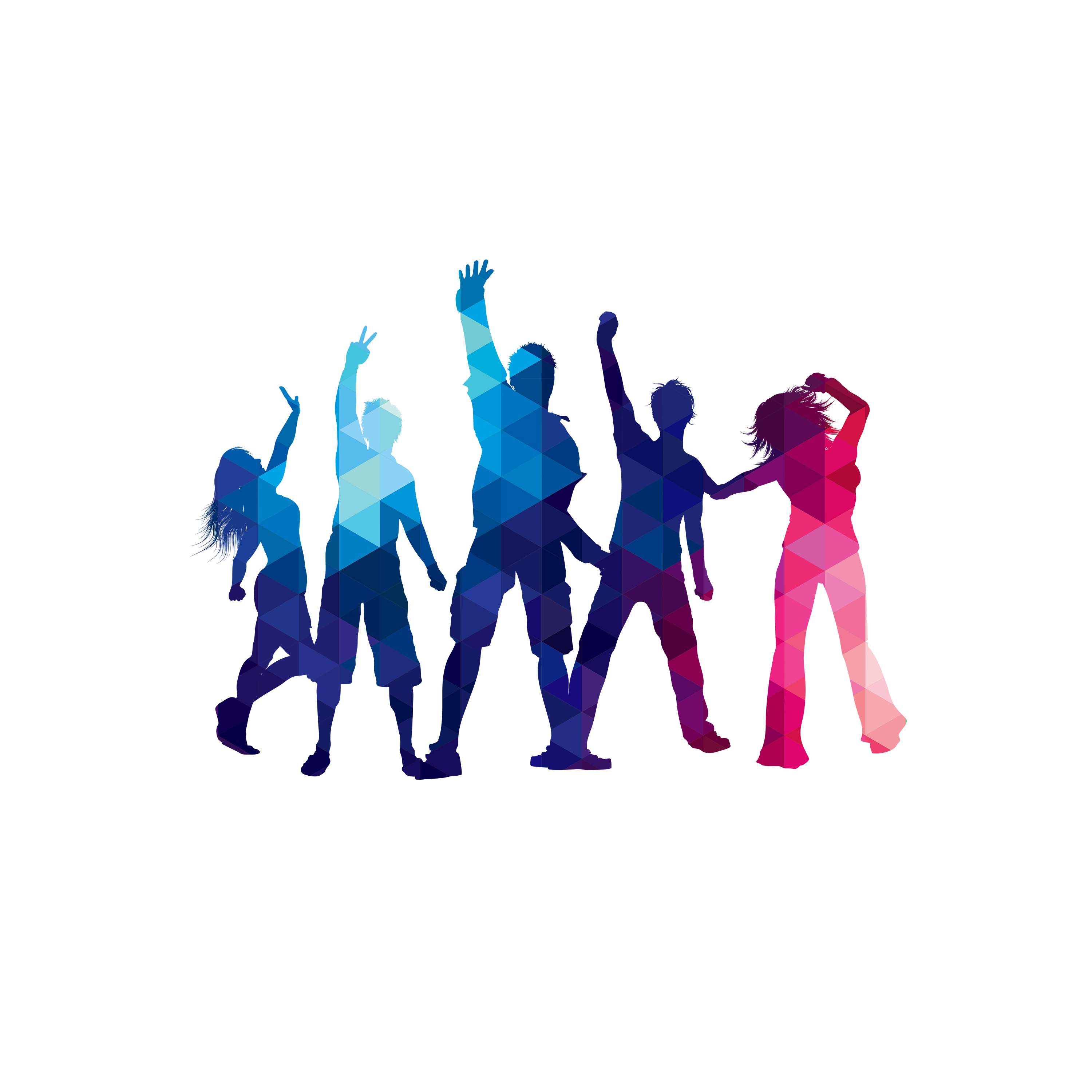 Group dance silhouette png. Poster transprent free download