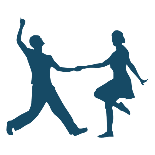 Dance couple png. Silhouette ballroom dancers at