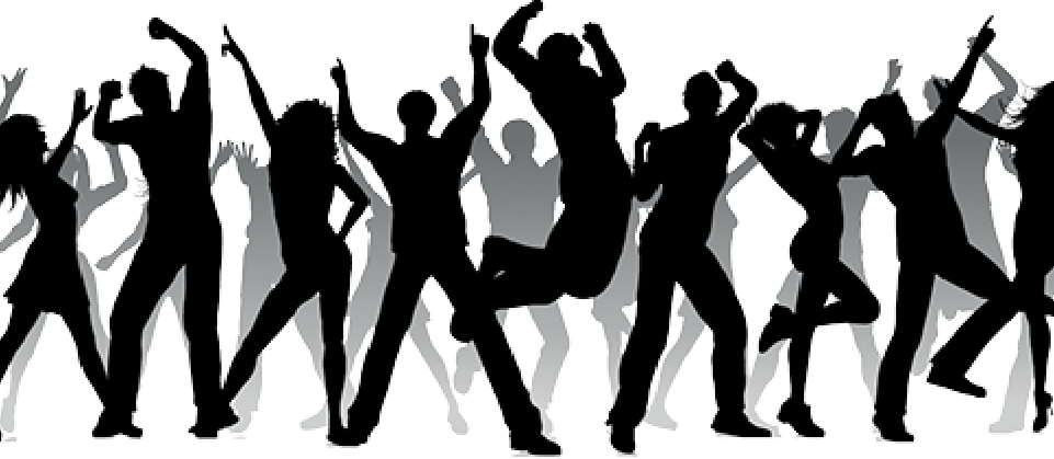 Group dancing silhouette png. Schedule