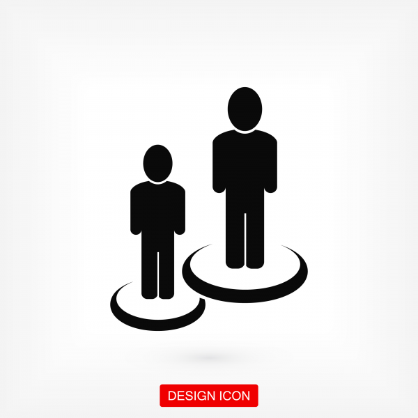 Group of people icon. Stock vector illustration