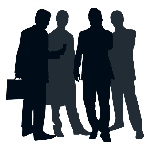 Group of people silhouette png. Transparent or svg to