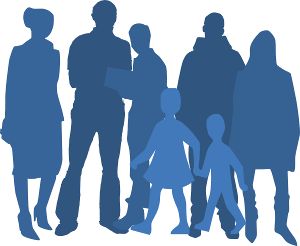 Stick figure group png. Of people silhouette at