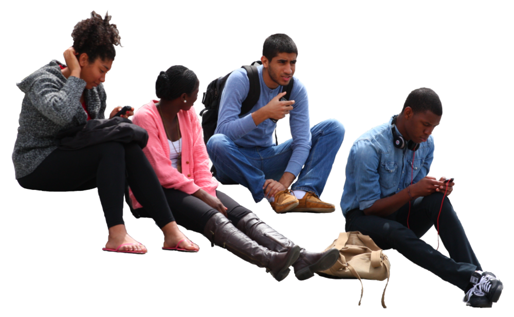 Group of people sitting png. Image
