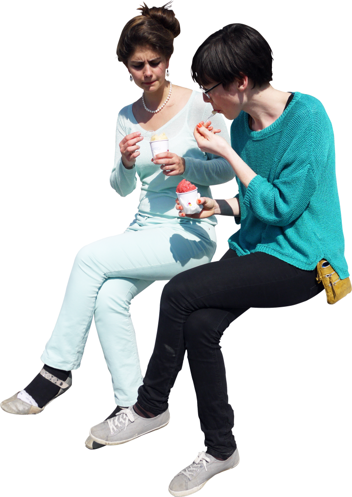 Group of people sitting png. Icecream image purepng free