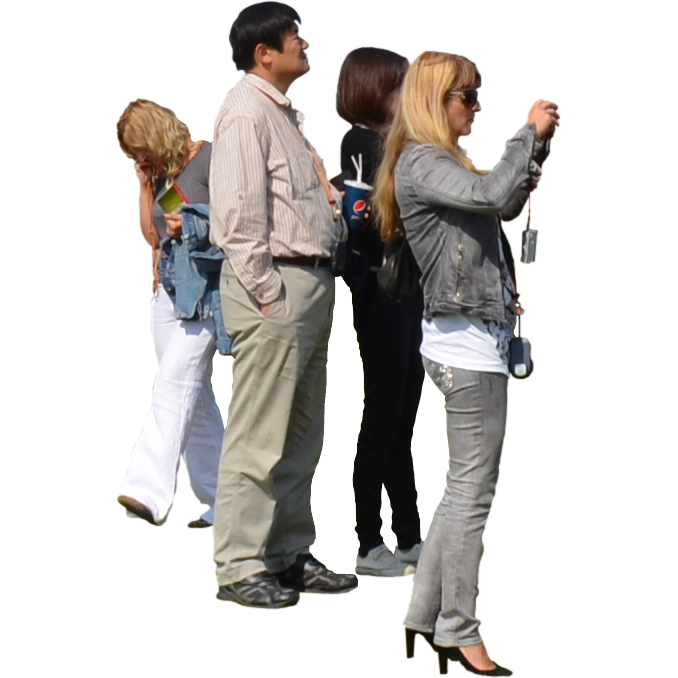 Group people png. Small of tourists photoshop