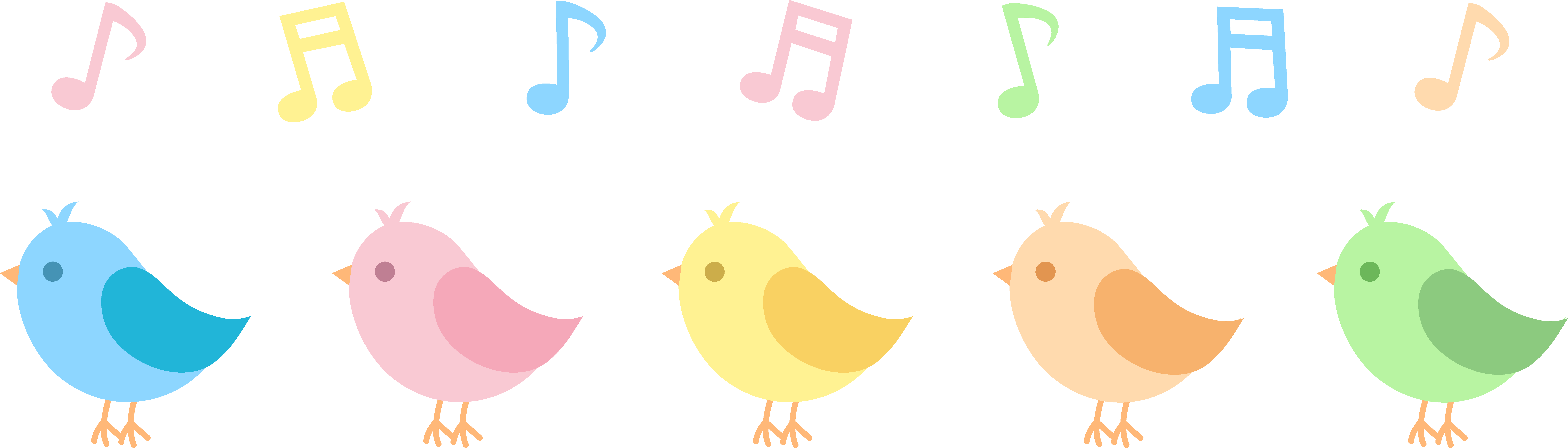 Group vector birds. Collection of free birred