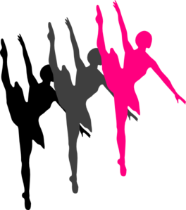 Dance team silhouette at. Dancer clipart danceline clip library download