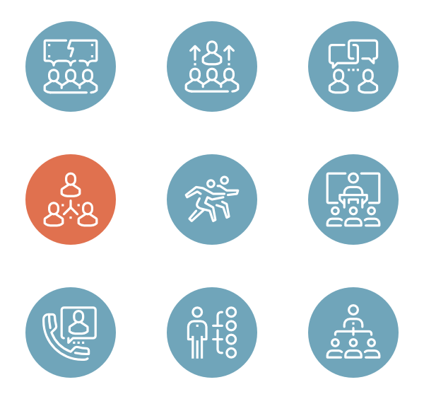 Working vector meeting. Group icons free team