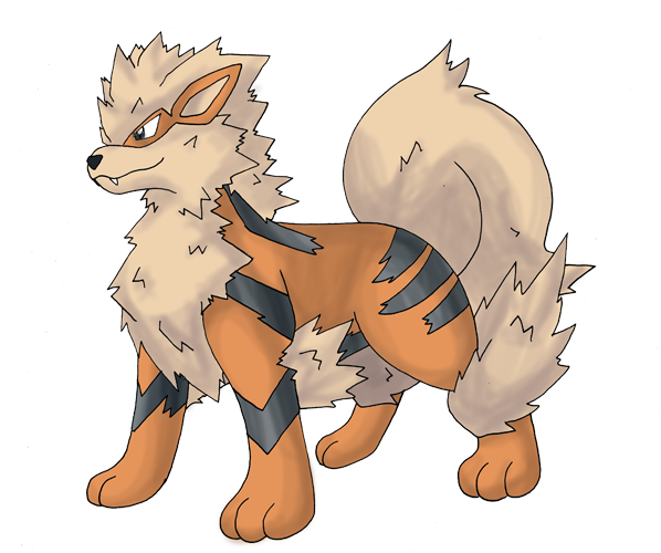 Growlithe drawing. Download hd ninetails arcanine