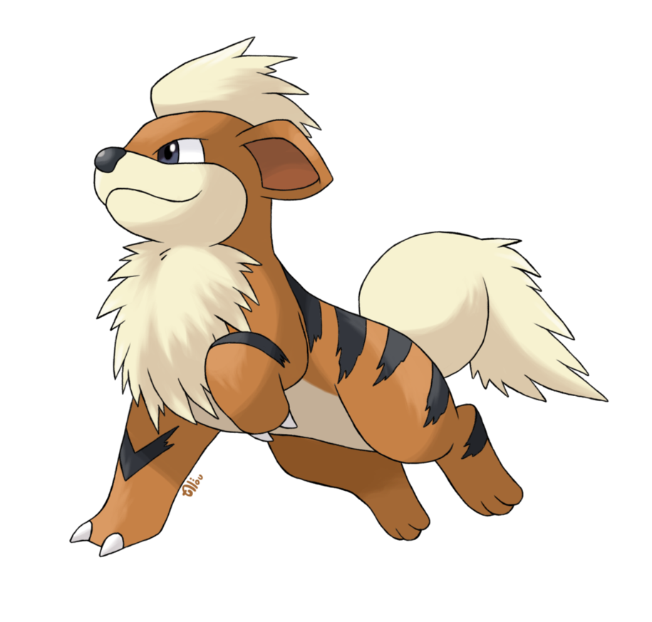 Growlithe drawing. Caninos by alounea on