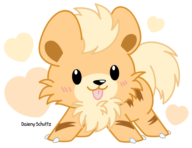 Growlithe drawing. Chibi pokemon pinterest pok