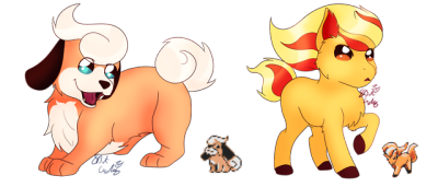 Growlithe drawing baby. Tumblr two scrapped pokemon