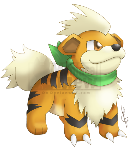 Growlithe drawing adorable. Pmd artwork style by