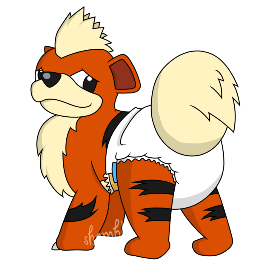 Growlithe drawing baby. Pokepadded request by the