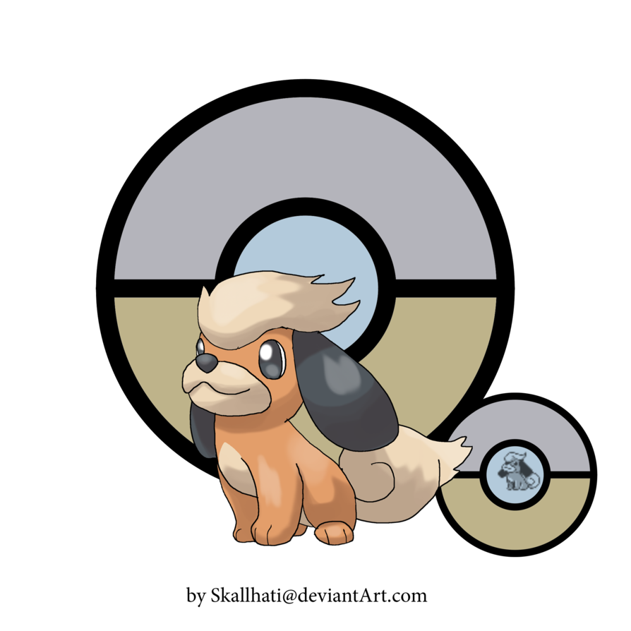 Growlithe drawing baby. Pudi by skallhati on