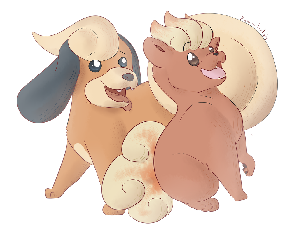 Growlithe drawing baby. And vulpix g s