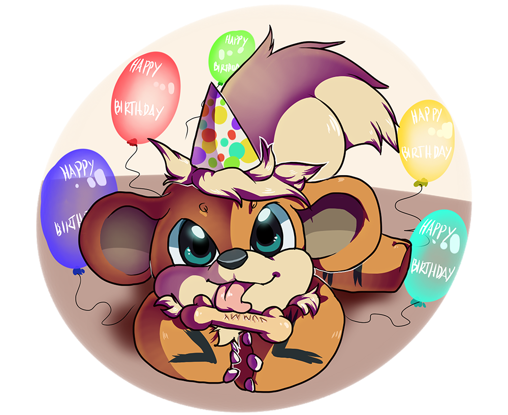 Growlithe drawing happy birthday. Party by pampd fur