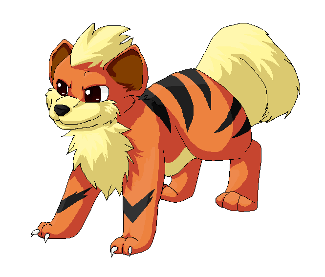 Growlithe drawing realistic. By stormfalconfire on deviantart
