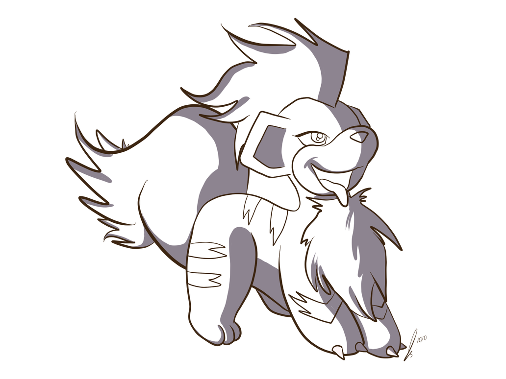 Growlithe drawing transparent. Lines by jaclynonacloudlines on