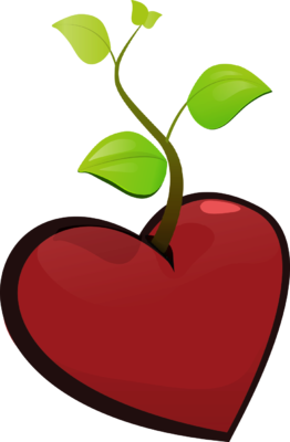 Heart clipart plant. Free growing cliparts download
